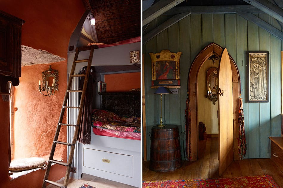 bedrooms in Jeremy Irons' castle
