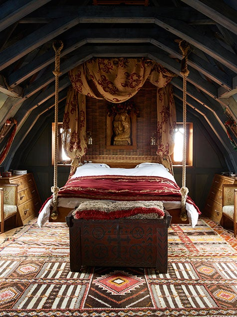 master bedroom Kilcoe Castle